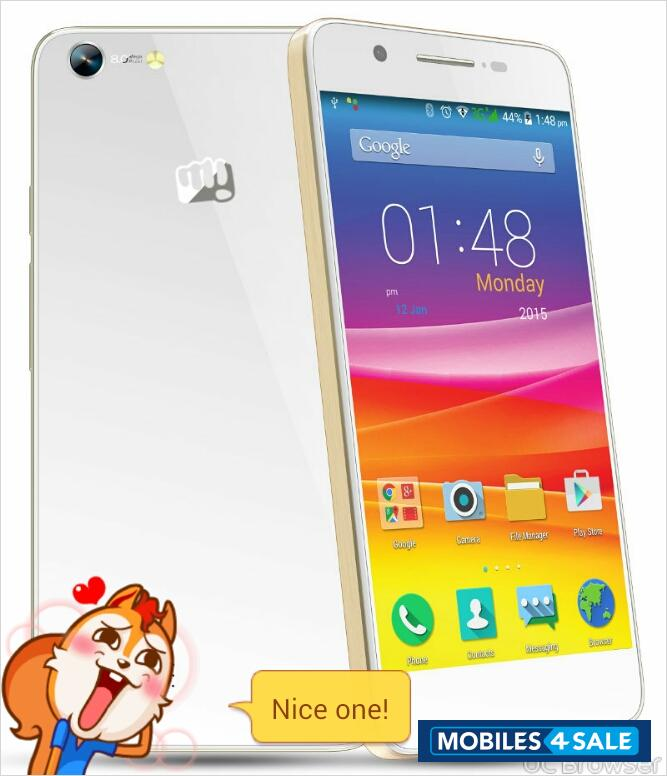 superior quality 42131 294a8 Used 2015 Micromax Canvas Hue AQ5000 for sale in Ahmedabad. White ...