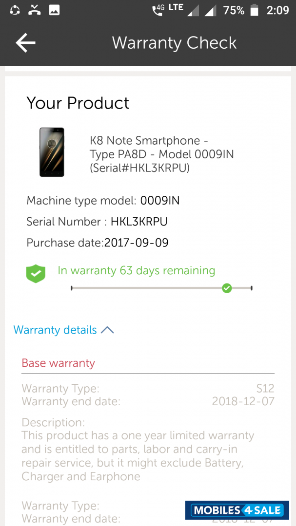 Used 2018 Lenovo K8 note for sale in Madurai  ID is 95772