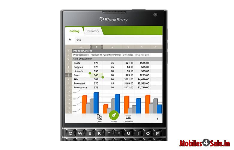 Blackberry Passport display