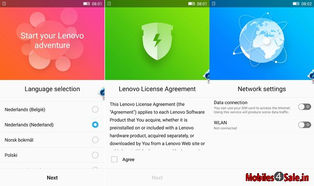 Lenovo K3 Note Homescreen Interface