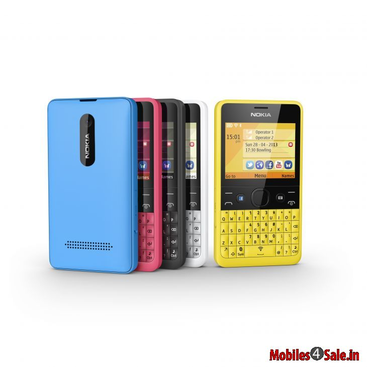 Nokia Asha 210, picture showing all the colour variations ...