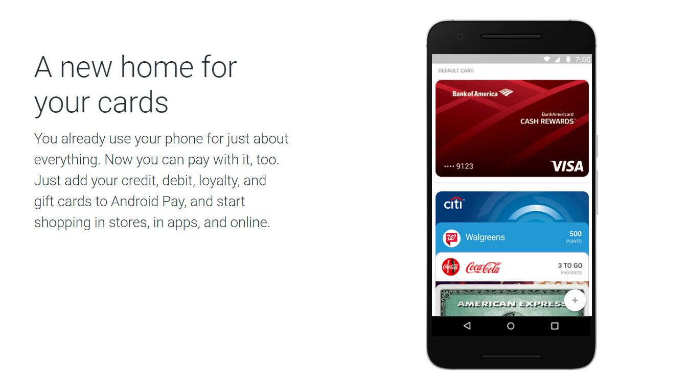 Android Pay Credit Card