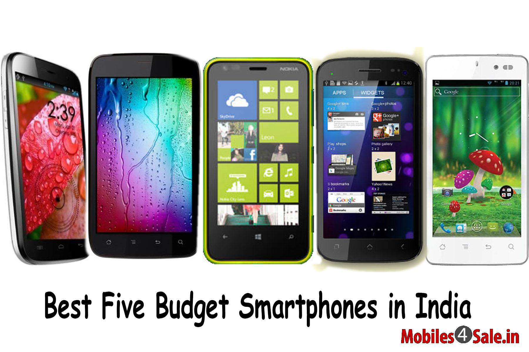 Best Five Budget Smartphones in India
