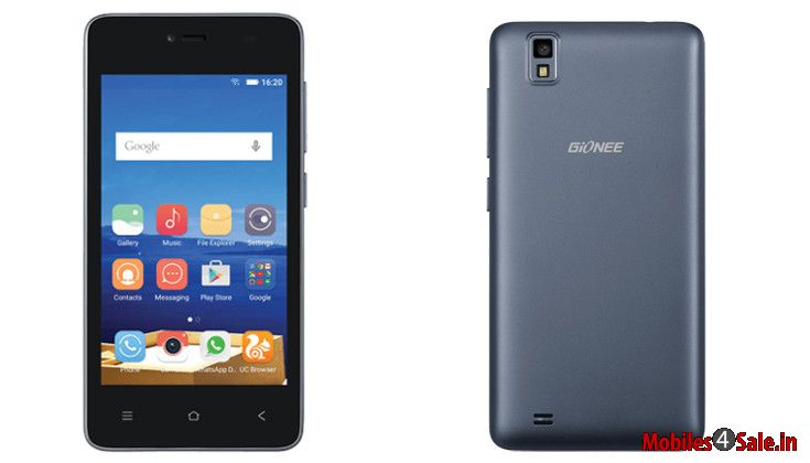 Gionee Pioneer P2 Front And Rear View