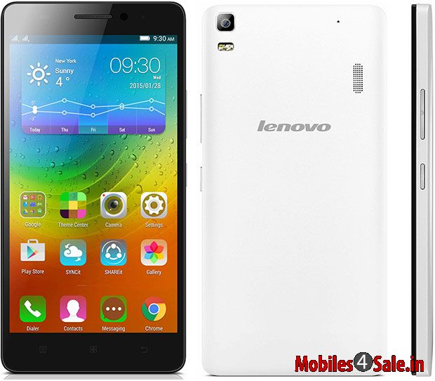 Lenovo A7000 Rearview White