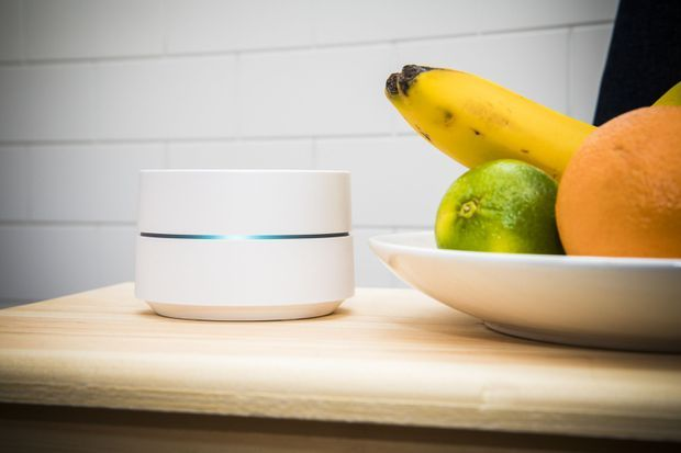 Mesh Router In Kitchen
