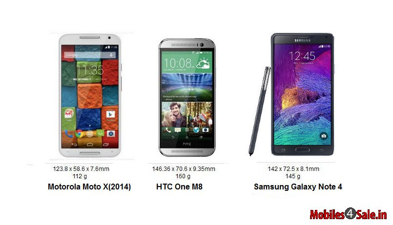 Moto X Gen 2 vs HTC One M8 vs Galaxy Note 4