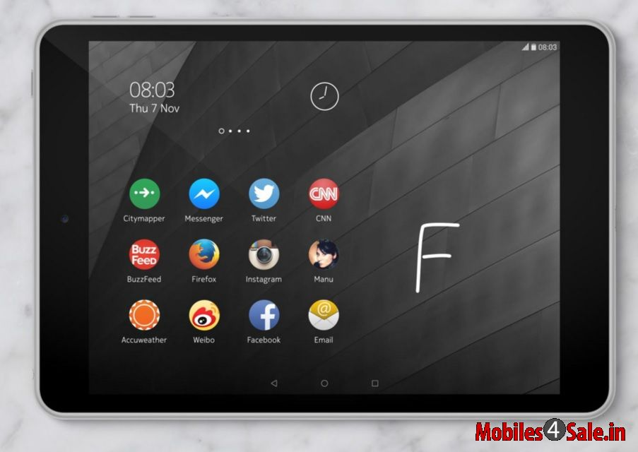 Nokia N1 Tablet Home Screen Z Launcher Ui