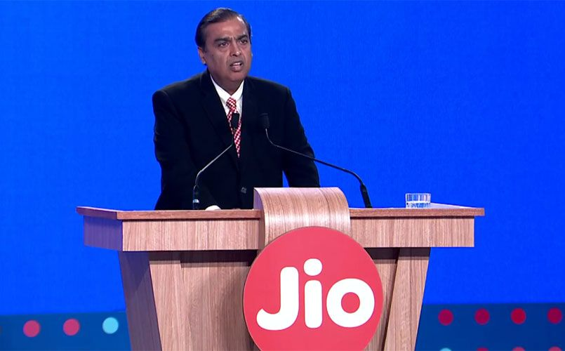 Reliance Jio Mukesh Ambani Screengrab