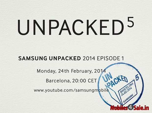 Samsung Galaxy S5 launch event invitation