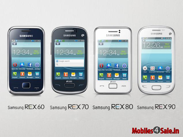 Samsung Rex Series Feature Phones