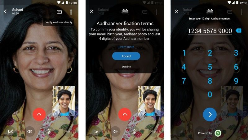 Skype Lite Aadhar Verification